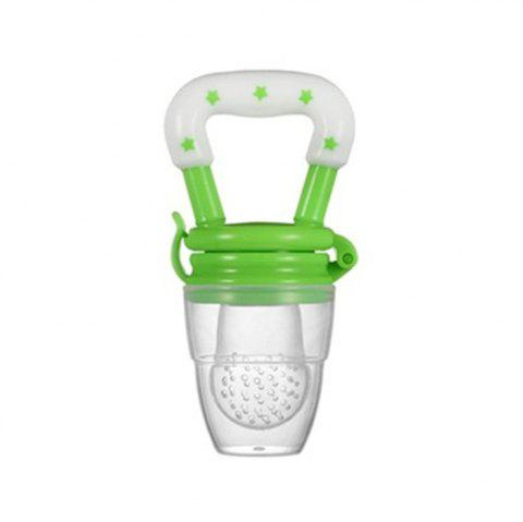 Baby New Pacifier Fresh Food Nibbler Feeder Newborn Safety Feeding Nipple - GREEN