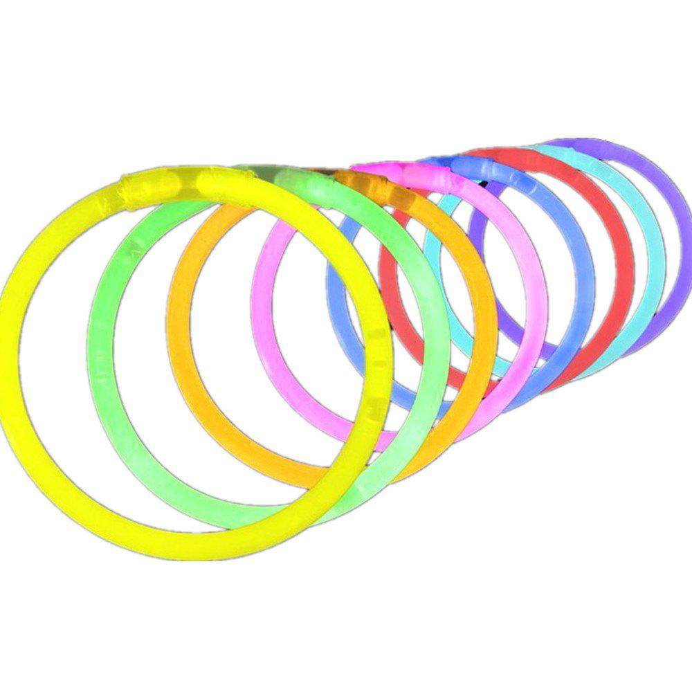 Light Up Jouets Glow Stick Bracelets couleurs mélangées Party Favors fournitures 40pcs - multicolor