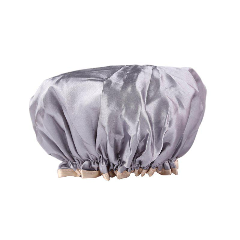 ZOREYA Double Water Proof Shower Cap - GRAY GOOSE