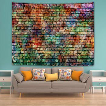 Colorful Bricks 3D Printing Home Wall Hanging Tapestry for Decoration - multicolor W230CMXL180CM