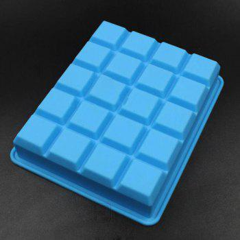20 Squares Silicone Ice Cream Mold - CRYSTAL BLUE