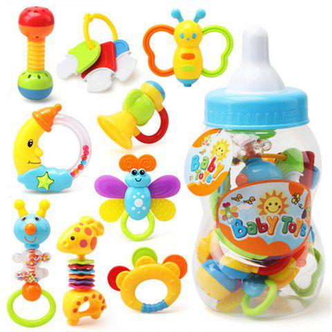 New Baby Teeth Plastic Toy 9 in 1 - multicolor A