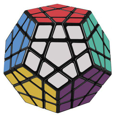 Megaminx 12 Sides Speed Cube Twisty 3D Puzzle Game Magic Brain Black - multicolor A