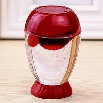 Home Decoration Fun Dynamic Egg Shell Volcanic Eruption Hourglass - RED