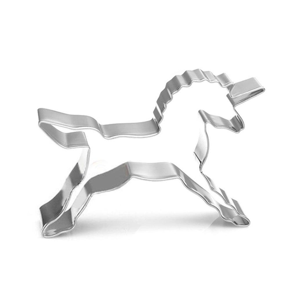Unicorn Shape Biscuit Cookie Cutter Horse Tools Stainless Steel Baking Mold - PLATINUM