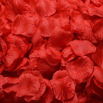 Rose Petals Flower Confetti for Wedding Party Decoration 1000pcs - RED