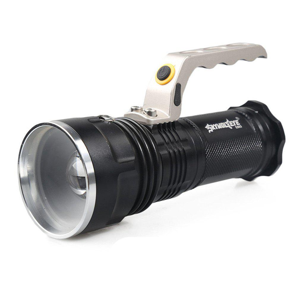 LED Searchlight Tactical Flashlight 1200 Lumen Waterproof Handheld Floodlight - BLACK