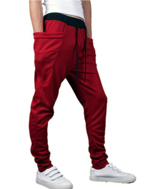 2780e31e6a5655 Men's Sports Casual Pants Trend Harem Pants Cheap Walking Pants ...
