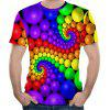 2018 Nouveau T-shirt court impression 3D de mode grande taille - multicolor 6XL
