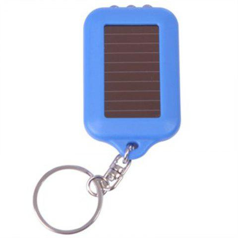 Solar-Powered LED Flashlight Keychain Handy Neat Bright - SKY BLUE