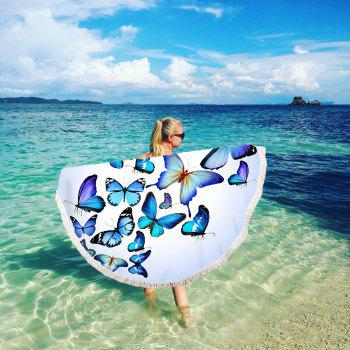 Butterfly Combination Beach Towel with Microfiber Tassel - multicolor 150CM