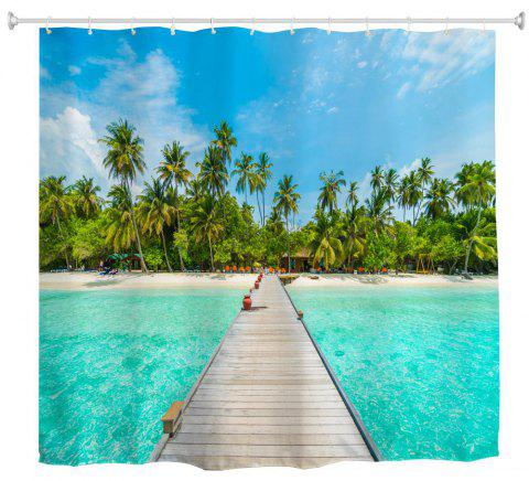 Pottery Pot Trestle Water-proof Polyester 3D Printing Bathroom Shower Curtain - multicolor W59 INCH * L71 INCH