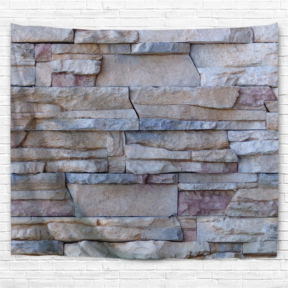 Building Stone Wall 3D Printing Home Wall Hanging Tapestry for Decoration - multicolor W230CMXL180CM