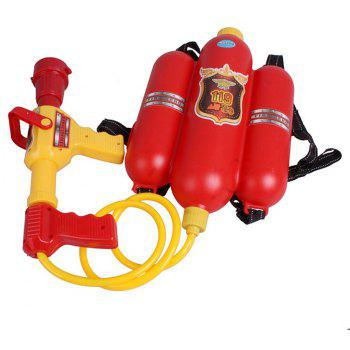 Backpack Pressure Squirt Pool Toy Children Summer Beach Gaming Water Gun - RED