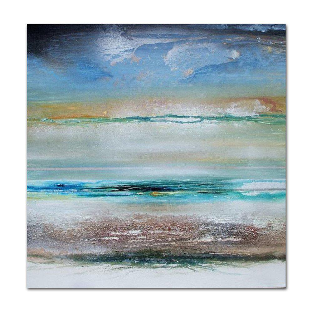STYLEDECOR Modern Hand Painted Abstract Blue Sky Canvas Oil Painting Wall Art - multicolor 23 X 23 INCH (60CM X 60CM)