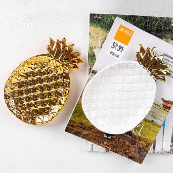 Nordic Ceramic Pineapple Jewelry Snack Fruit Storage Plate - GOLD