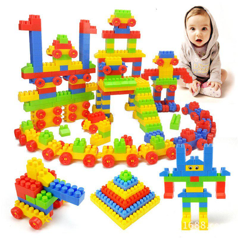 240PCS Small Block Particles Educational Toy - multicolor
