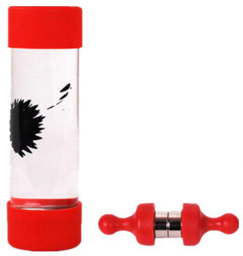 Ferrofluid in A Bottle Magnetic Liquid Display Stress Relief Decompression Toy - RED