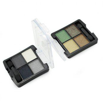 Four-Color Eye Shadow Pattern -