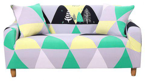 European-style Simple Elastic Sofa Cover - multicolor G DOUBLE SEATS SOFA:145CM-185CM