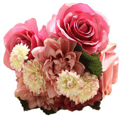 Home Table Decoration Ornaments Dali Bouquet Artificial Rose - ROSE RED