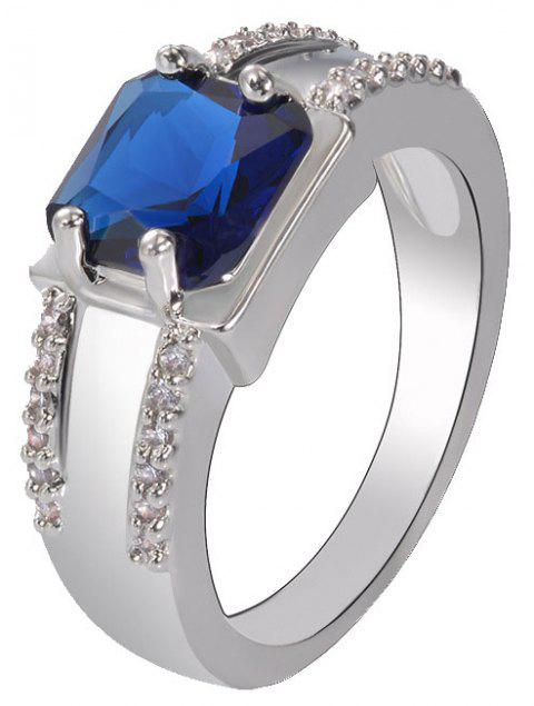 Classic Quality Simple Blue Zircon Ring - SAPPHIRE BLUE US SIZE 8