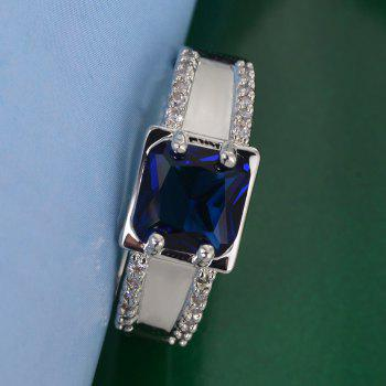 Classic Quality Simple Blue Zircon Ring - SAPPHIRE BLUE US SIZE 10