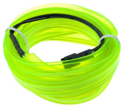 5m USB EL Wire Neon Light Kit for Halloween Christmas Party Decoration - GREEN YELLOW