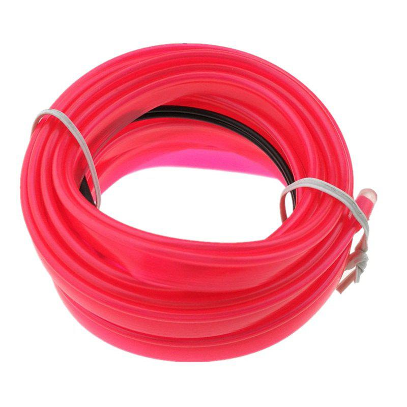 5m USB EL Wire Neon Light Kit for Halloween Christmas Party Decoration - DEEP PINK