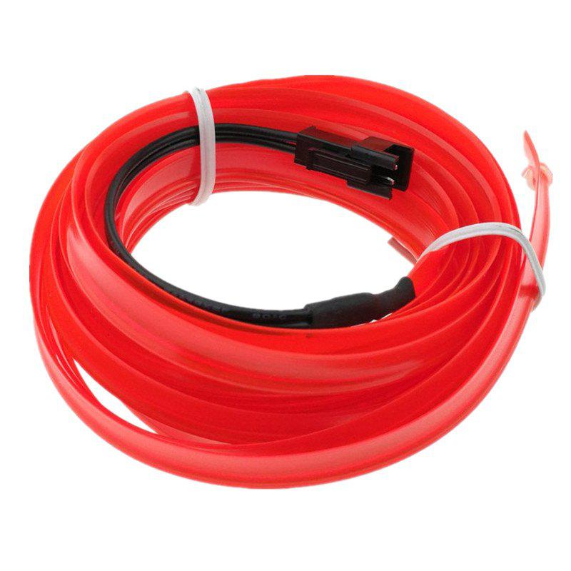 5m USB EL Wire Neon Light Kit for Halloween Christmas Party Decoration - FIRE ENGINE RED