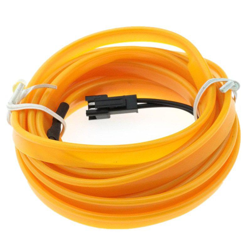 5m USB EL Wire Neon Light Kit for Halloween Christmas Party Decoration - CORN YELLOW