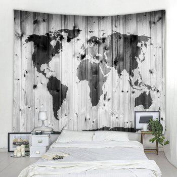 Wooden Map 3D Printing Home Wall Hanging Tapestry for Decoration - multicolor W203CMXL153CM