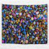 Colored Stones 3D Printing Home Wall Hanging Tapestry for Decoration - multicolor W153CMXL102CM