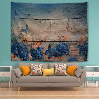 Wood Board Butterfly 3D Printing Home Wall Hanging Tapestry for Decoration - multicolor W153CMXL130CM
