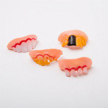 Halloween Vampire Funny Denture Toy 10pcs - multicolor