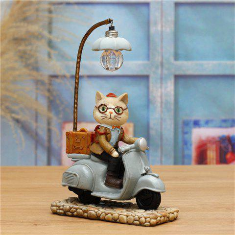 Novelty kids Night Light Cute Cat Shape Led table Lamp For Home Decoration - BLUE GRAY