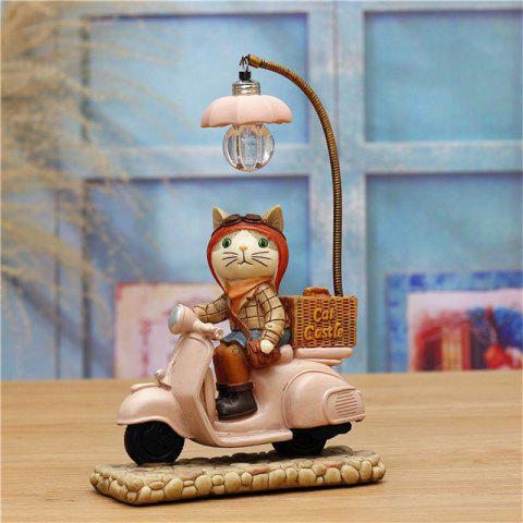 Novelty kids Night Light Cute Cat Shape Led table Lamp For Home Decoration - PINK