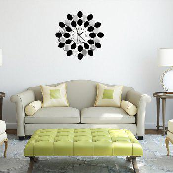 Lemon Clock 3D Mirror Wall Plaster Sticker - multicolor 60*45CM