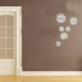 Individual Floret Mirror Wall Stickers - SILVER 40*60CM