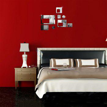 Creative Rectangular Solid Wall Stickers 3D - SILVER 60*40CM