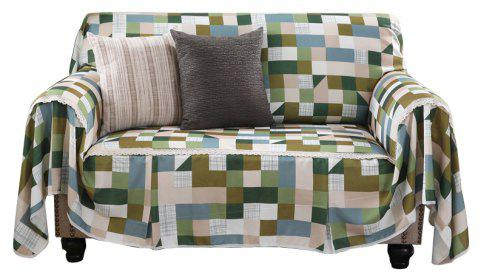 American Simple Style Sofa Dust Cover Cloth - multicolor C SINGLE SEAT SOFA:215CM*200CM