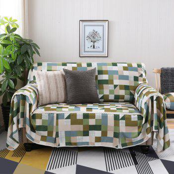 American Simple Style Sofa Dust Cover Cloth - multicolor C FOUR SEATS SOFA:215CM*350CM