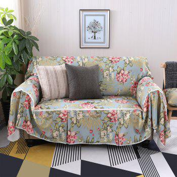 American Simple Style Sofa Dust Cover Cloth - multicolor E DOUBLE SEATS SOFA:215CM*260CM