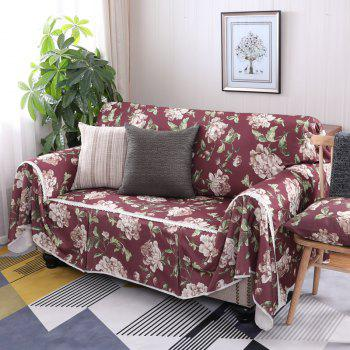 American Simple Style Sofa Dust Cover Cloth - multicolor F DOUBLE SEATS SOFA:215CM*260CM