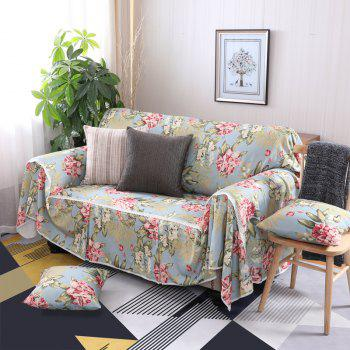 American Simple Style Sofa Dust Cover Cloth - multicolor E FOUR SEATS SOFA:215CM*350CM