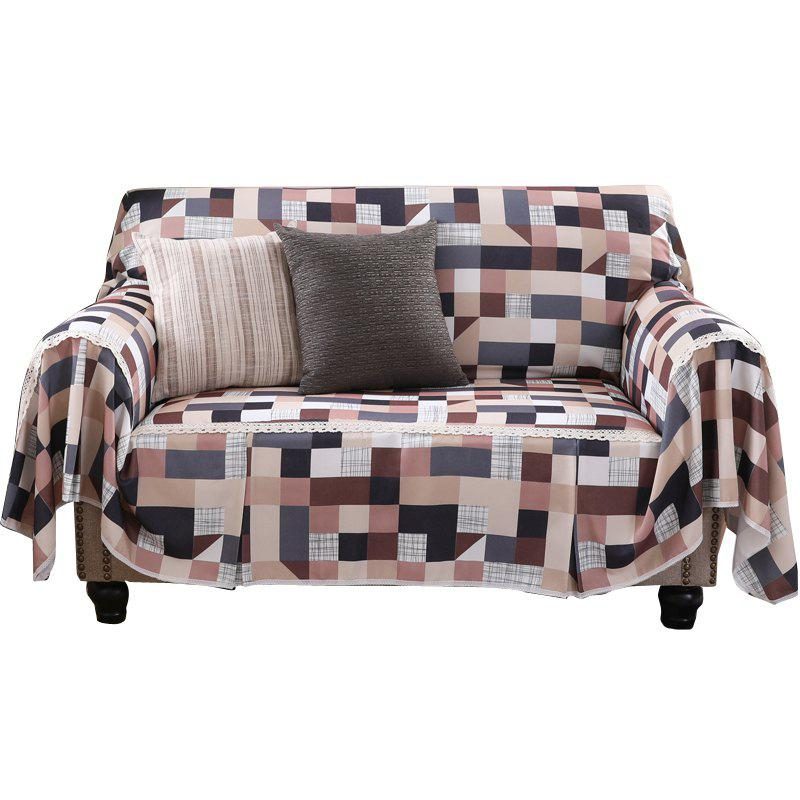 American Simple Style Sofa Dust Cover Cloth - multicolor B SINGLE SEAT SOFA:215CM*200CM