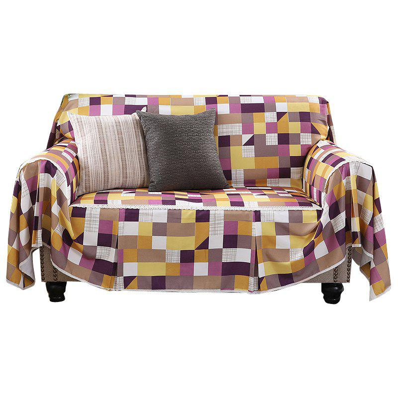 American Simple Style Sofa Dust Cover Cloth - multicolor D DOUBLE SEATS SOFA:215CM*260CM