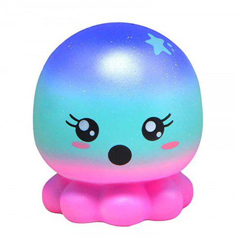 Jumbo Squishy Doll Octopus Cute Animal de bande dessinée Slow Rising Toy Collection de jouets - multicolor A