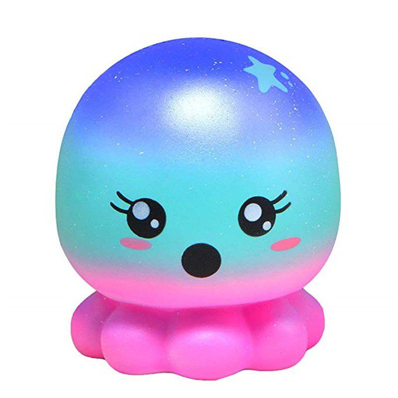 Jumbo Squishy Doll Octopus Cute Cartoon Animal Slow Rising Toy Gift Collection - multicolor A