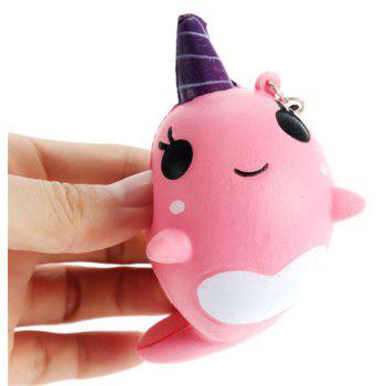 Jumbo Squishy Narwhal Whale Blue Slow Rising Cute Soft Gift Decor Toy - PINK